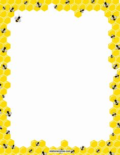 bee page boder Diy Paper, Paper Crafts, Borders And Frames, Bees Knees, Writing Paper, Bee Keeping, Journal Cards, Scrapbook Paper, Creations