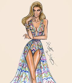 Hayden Williams Fashion Illustrations: 'Technicolor Dream' by Hayden Williams