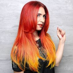 Hot hot hot. @sableloves hair removed color added some bohemian extensions and took care not to burn herself when she while hairpainted in Pravana vivids hot like fire. So intense Sable love it.  #thehairstandard #modernsalon #behindthechair #authentichairarmy #lasvegassalon #lasvegashairstylist #summerlinsalon #downtownsummerlin #firehair #pravanavivids