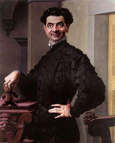 有名絵画の顔をMr. ビーンにしたらなんか面白かった|CuRAZY