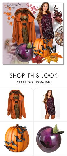 """""""Art give me a Pumpkin & Plum"""" by silvijo ❤ liked on Polyvore featuring Burberry, Boohoo and Improvements"""
