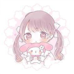 Cute Anime Chibi, Kawaii Chibi, Cute Anime Pics, Anime Girl Cute, Kawaii Art, Kawaii Anime Girl, Cute Cartoon Drawings, Kawaii Drawings, O Cowboy