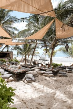 Outdoor Restaurant, Bali Restaurant, Tulum Beach, Beach Cafe, Beach Aesthetic, Club Design, Cabana, The Places Youll Go, Beautiful Places