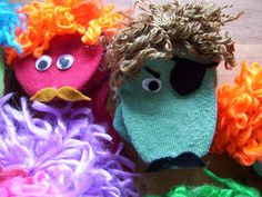 Easy No-Sew Sock Puppets Tutorial. Repinned by Kidlutions. For all of our family friendly pins, go to http://www.pinterest.com/kidlutions
