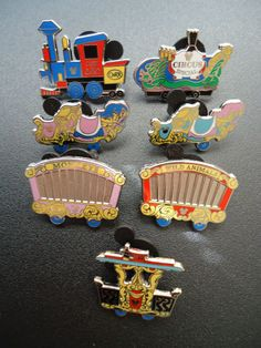 I've scored the calliope car pin; Hidden Mickey Casey Jr. Train Pin Set 2011 with Both Completers
