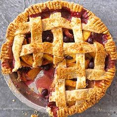 Peach-Blueberry Pie This delicious pie offers a twist to the traditional blueberry pie recipe. It's a perfect treat for any occasion.