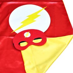Flash cape and mask the flash costume superhero by GEEKYpresents