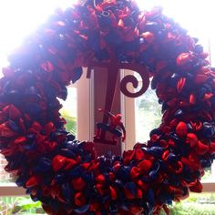 Spiderman Birthday party wreath for my nephew.