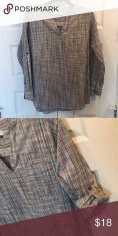 Magellan outdoors shirt Grey plaid print/long or quarter fold sleeve length magellan Tops Blouses