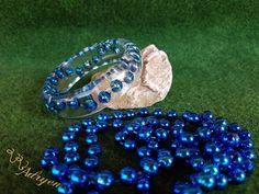 Kék gyöngy karperec