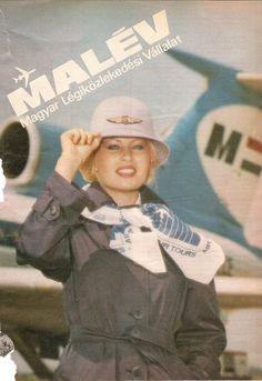 Régi MALÉV-reklámok, Pataki Ági és Pintér Mari Retro 2, Malm, Vintage Travel Posters, Titanic, Tours, Baseball Cards, Sports, Flight Attendant, Jet