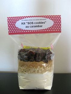 Kit des cookies aux Carambars Mason Jar Meals, Meals In A Jar, Mason Jars, Cooking Ribeye Steak, Cooking Roast Beef, Kit Cookies, How To Cook Zucchini, Cooking Cookies, Little Presents