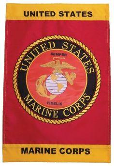 12x18 Marines Garden Flag USMC Garden Pole Sleeve Double Sided Flag FAST US SHIP