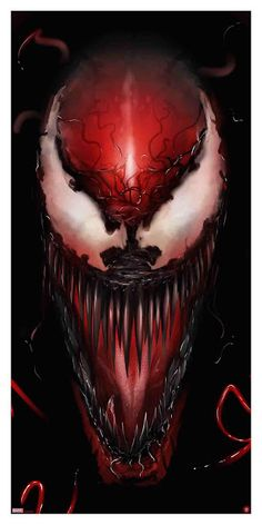 'Carnage' print by Andy Fairhurst for Grey Matter Art at NYCC 2018 Venom Comics, Marvel Venom, Marvel Villains, Marvel Comics Art, Marvel Characters, Spiderman Art, Amazing Spiderman, Illustration Batman, Venom Art