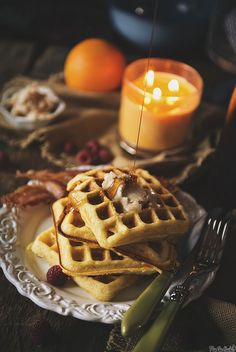 cornmeal-waffles by PasstheSushi, via Flickr