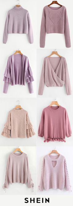 Pink sweaters