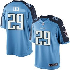 Perrish Cox Youth Elite Light Blue Jersey  Nike NFL Tennessee Titans Home   29 Nfl 110f25c65