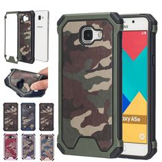 Navy Camouflage Hybrid Armor Shockproof Cover Case For Samsung Galaxy 2016 A3 A310 / A5 A510 / A7 A710 Tough Protective Cases //Price: $US $2.84 & FREE Shipping //     #apple