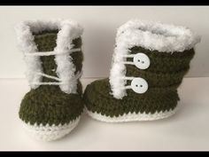 0-3 month fuzzy/ Fur Crocheted Boots | Easy to follow Video Tutorial - YouTube