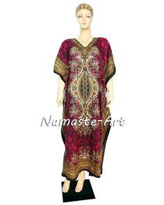 Indian Free Size Beach Party Casual Wear Cover Wear Up Dress Any Season Kaftan  #Unbranded #KaftaanBeachDressMaxi #Casual