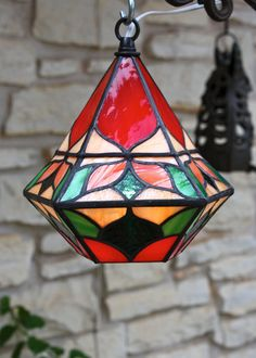 BellShaped Poppy Red Pendant Lantern
