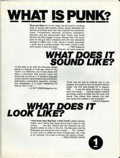 """""""How to Look Punk"""" in 13 Easy Steps: A 1977 Style Guide Punk"""