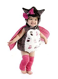Infant Toddler Emily the Owl Costume - - Hoo! Hoo is that? Why, it's Emily the Owl, of course! Look at her flying around with her darling pink wings! This Infant Toddler Emily the Owl Costume is a wonder Owl Halloween Costumes, Wholesale Halloween Costumes, Cute Costumes, Baby Costumes, Costumes For Women, Costume Ideas, Halloween Ideas, Baby Girl Halloween, Baby Kostüm