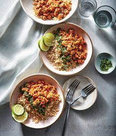 Korean-Style Pork and Rice | Deeply savory gochujang adds a mild heat to the finished dish so kids can still enjoy; look for it on the Asian foods aisle.