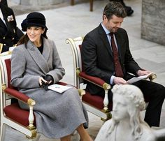 Prince Frederik and Princess Mary attended a service at Copenhagen Cathedral