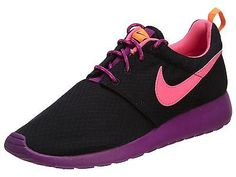 Nike Rosherun Gs Kids 599729-007 Black Pink Berry Athletic Shoes Youth Size 7