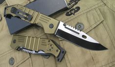 USA M9 Huge Military Folding Knife Green, Canada Knives and Swords