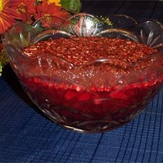 Cranberry Gelatin Salad I Recipe - I make every year and put in jars to share for the holidays.  Something different than congealed cran-in-a-can