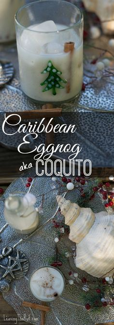 Caribbean Eggnog aka Coquito!! Perfect twist on a favorite holiday cocktail!! www.leavingtherut.com