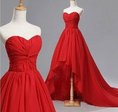 Design My Own Prom Dress Front Short Back Long Red Prom Dresses Chiffon Corset Back Ruched Sweetheart Evening Ball Gown Vestidos De Noche Long Lace Prom Dress From Adminonline, $87.87  Dhgate.Com