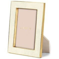 """AERIN Shagreen 4""""x6"""" Photo Frame (£249) ❤ liked on Polyvore featuring home, home decor, frames, 4x6 picture frames and 4x6 frames"""