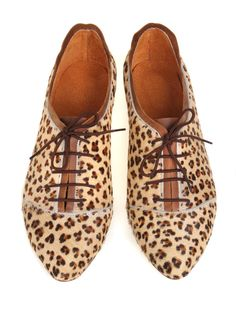 Go on the prowl in leopard-print leather. #etsy