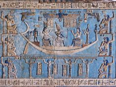 The Triumph of the Moon from the temple at Dendera, Egypt