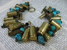 Bullet Casing Jewelry  Authentic Brass and Genuine by thekeyofa, $108.00
