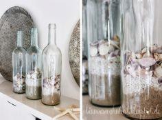 Dekoration Für Badezimmer glas vasen rund sand muscheln deko deko muschel