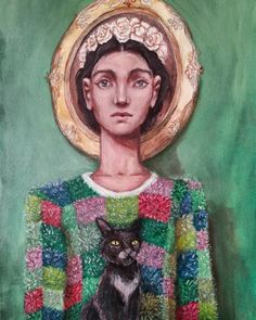 Painting Art, Paintings, Antique Frames, Flower Crown, Cats Of Instagram, Mona Lisa, Drop, Portrait, Canvas