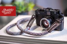 Red Thread Fits Fuji Black Braided Marine Rope Hand Camera Strap leica Etc