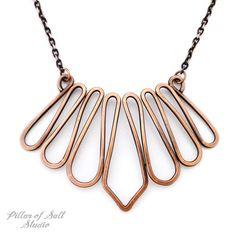 Copper bib necklace by Pillar of Salt Studio