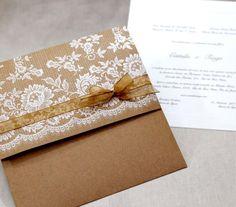 Convite para casamento rústico por Eilá Nigri - Foto Divulgação