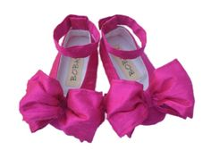 Ballet shoes organic ballet shoesbaby girl shoesflower girl hot pink baby shoes mightylinksfo Choice Image