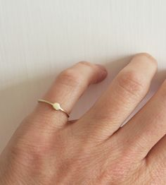 Moon At Hand Gold Ring | This darling gold ring is fashioned with a sweetly imperfect m... | Rings