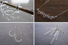 HARIO Lampwork Factory Resin Jewelry, Glass Jewelry, Handcrafted Jewelry, Unique Jewelry, Jewelry Photography, Resin Art, Jewelry Design, Hair Accessories, Earrings
