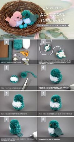7705c1e377bb5 19 best PomPom crafts etc. images on Pinterest