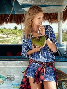 hilary walsh shoot17 Nadine Leopold is Summer Ready for Glamour France Spread by Hilary Walsh