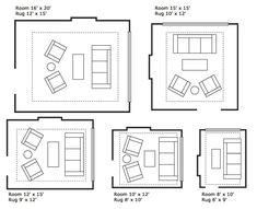 Rug guide floor plans