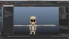 "Free ""Bones"" Skeleton Character Rig for Maya Character Rigging, Rigs, Skeleton, Maya, Script, Bones, Animation, Digital, Free"